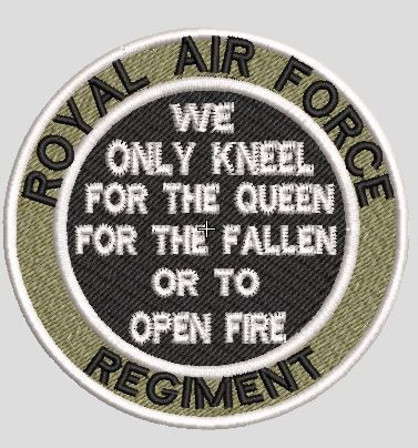 RAF Regiment Kneel Patch